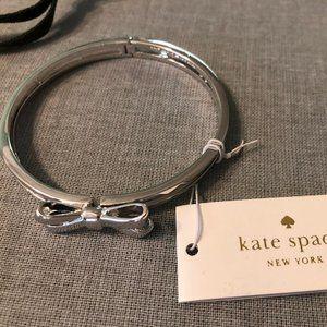 COPY - KATE SPADE Bow Metal Silver Bracelet